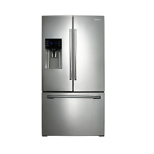36-inch W 24.6 cu. ft. French Door Refrigerator in Stainless Steel - ENERGY STAR®