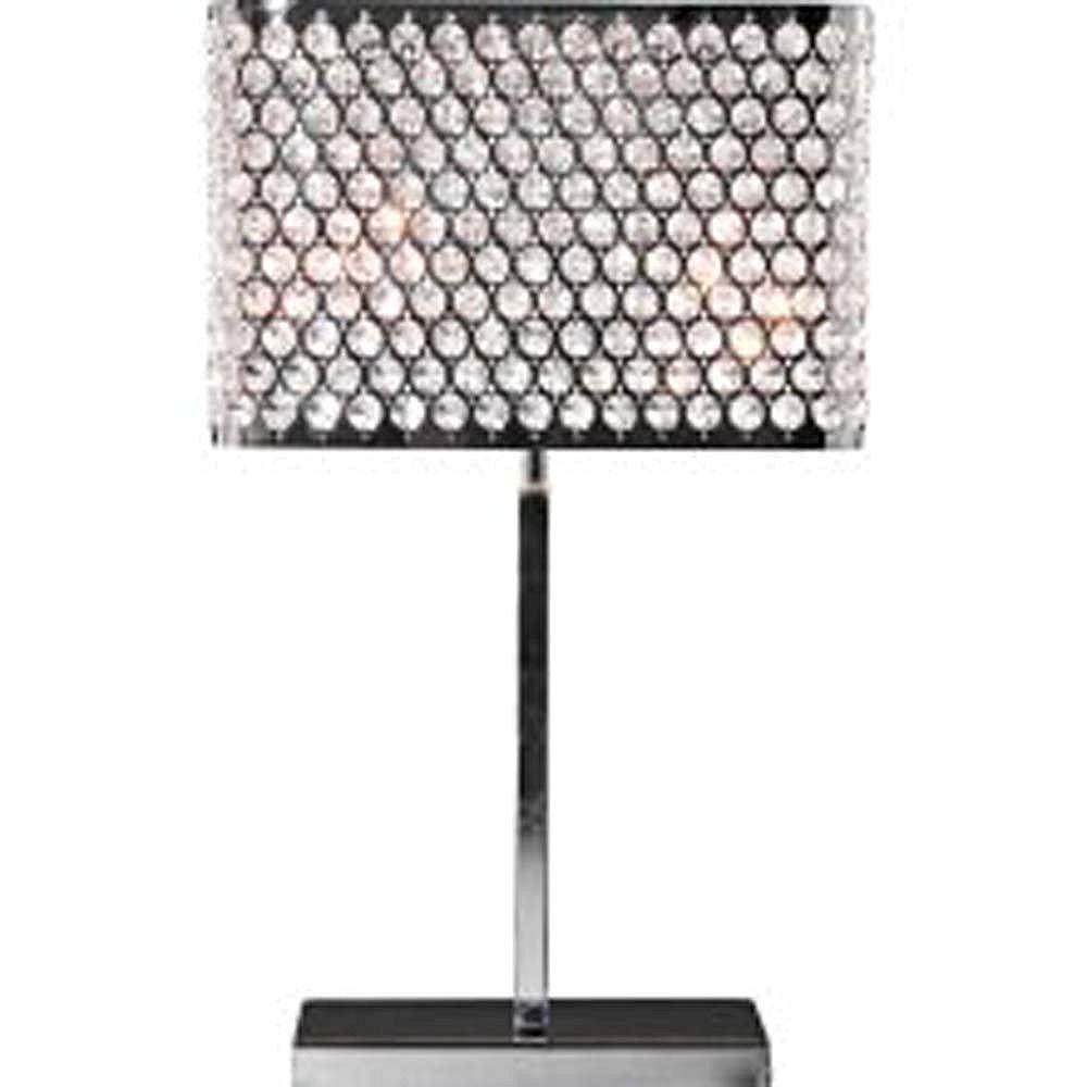 Filament Design Apollo 21.25 in. Chrome Incandescent Table Lamp