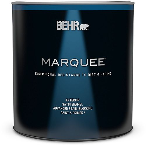 Behr Marquee Marquee 946 mL Deep Base Satin Enamel Exterior Paint with Primer