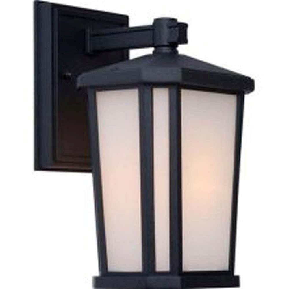Filament Design Apollo 1-Light Black Outdoor Wall-Light