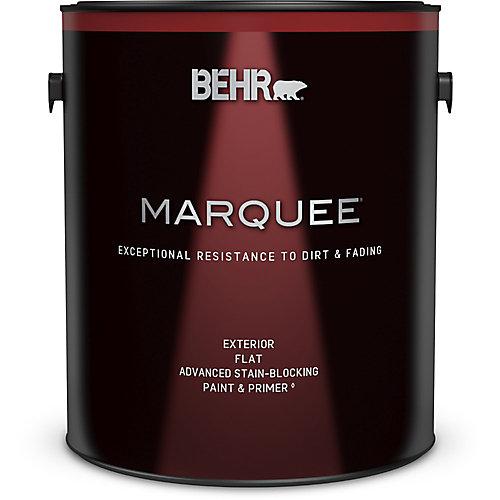 Peinture et apprêt en un BEHR MarqueeMC dextérieur avec fini mat et base foncée (3,7L)