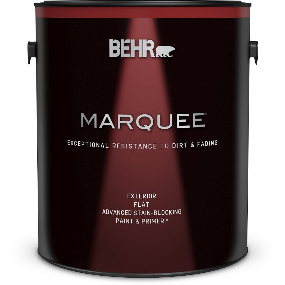 Behr Marquee Exterior Flat Stain-Blocking Paint with Primer, 3.7L