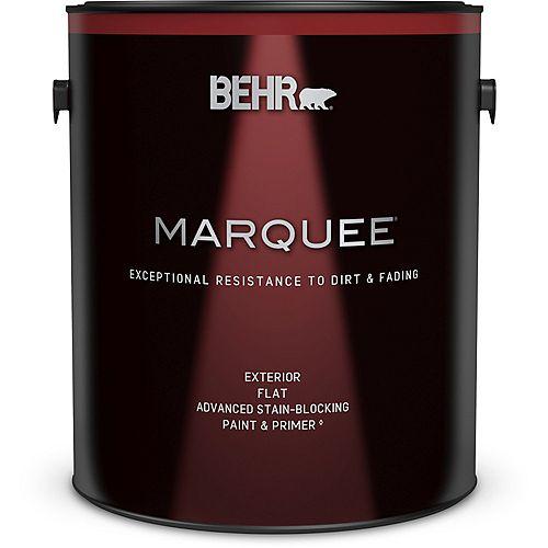 Peinture et apprêt en un BEHR MarqueeMC dextérieur avec fini mat et base foncée (3,7 L)