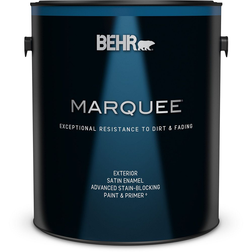 Behr Marquee Marquee 3.7 L Medium Base Satin Enamel Exterior Paint with Primer