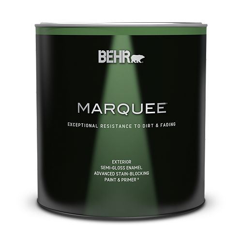 Behr Marquee Marquee 946 mL Deep Base Semi-Gloss Enamel Exterior Paint with Primer