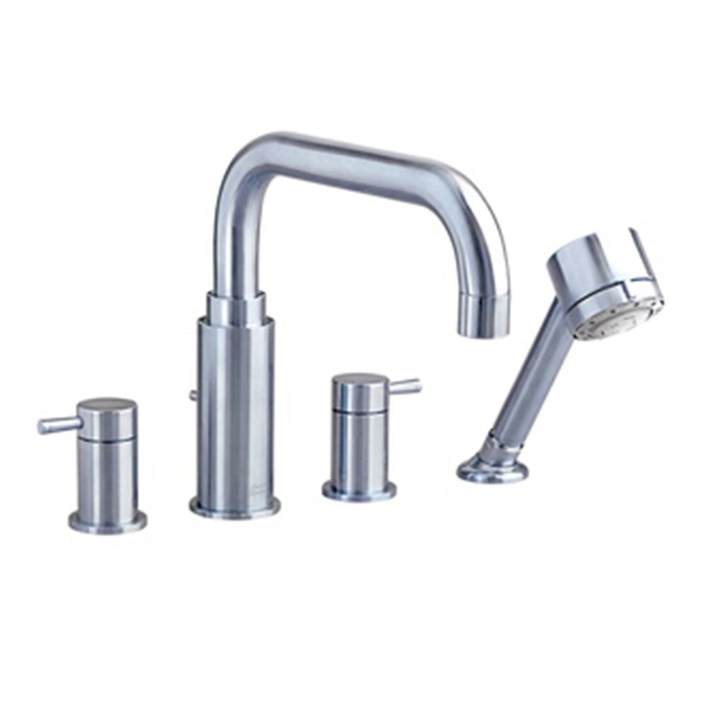 American Standard Serin Lever 2-Handle Deck-Mount Roman Tub Faucet with Hand Shower in Brushed Nickel