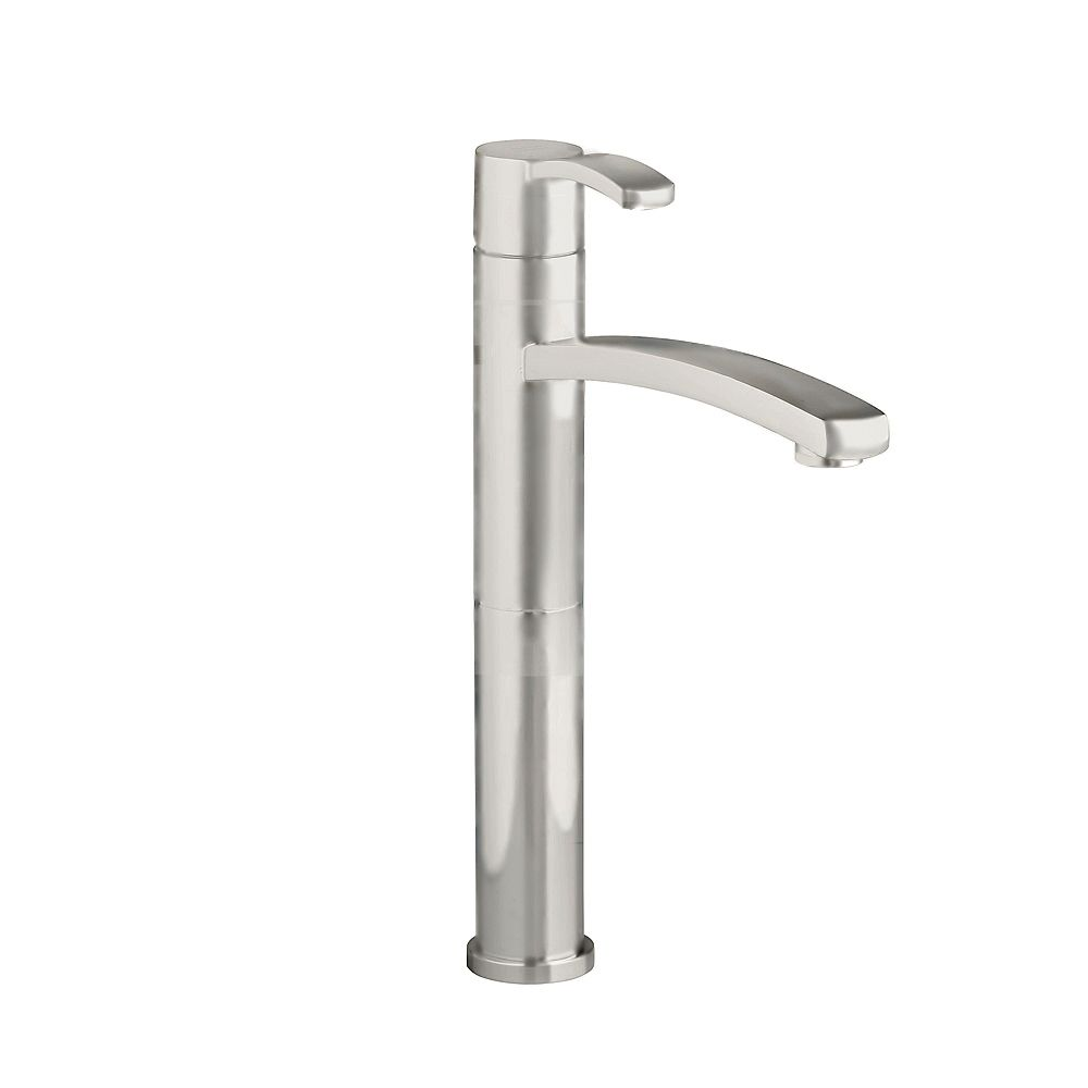 American Standard Berwick Single Hole Single-Handle Bathroom Vessel Faucet with Grid Drain in Satin Nickel Finish