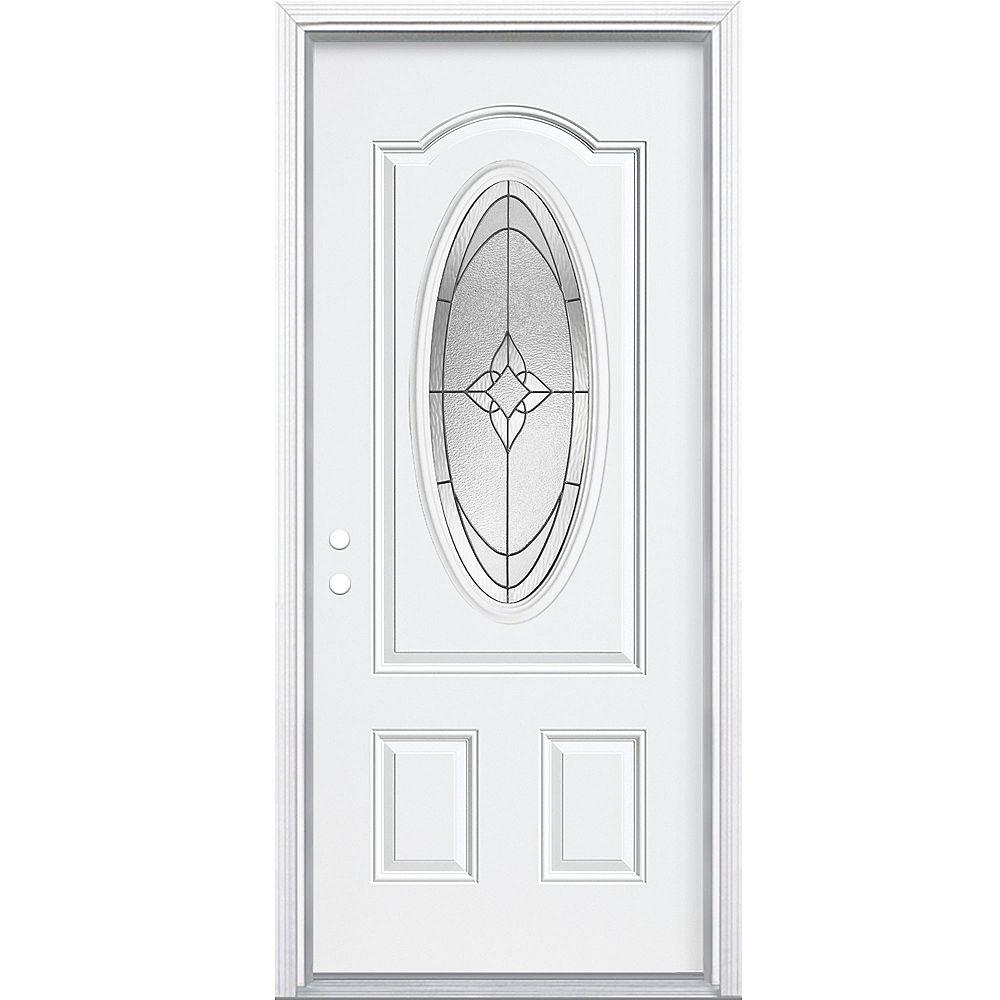 Masonite 32-inch x 4 9/16-inch 3/4-Oval Oxney Right Hand Door
