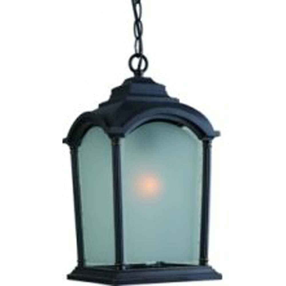 Filament Design Apollo 1 Light Black Outdoor Incandescent Hanging Light