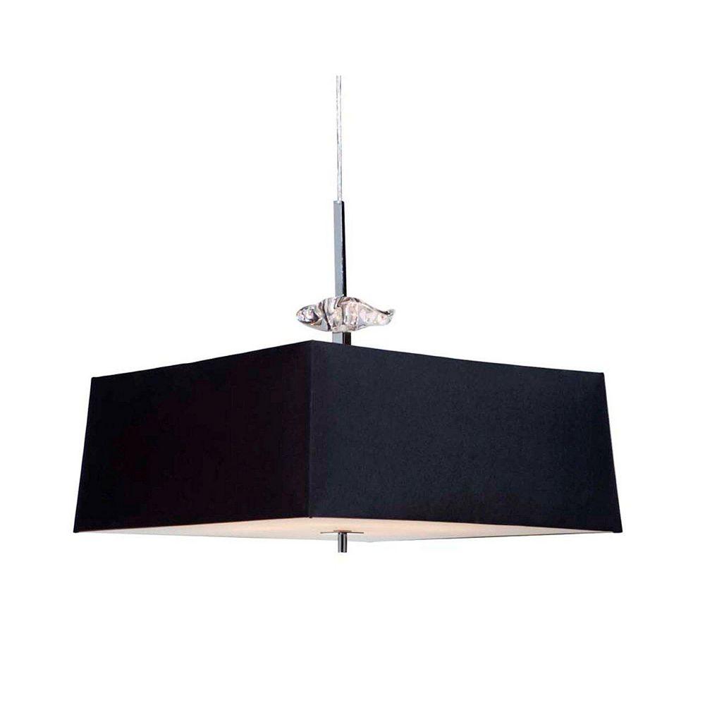 Filament Design 4 Light Ceiling Chrome Incandescent Pendant
