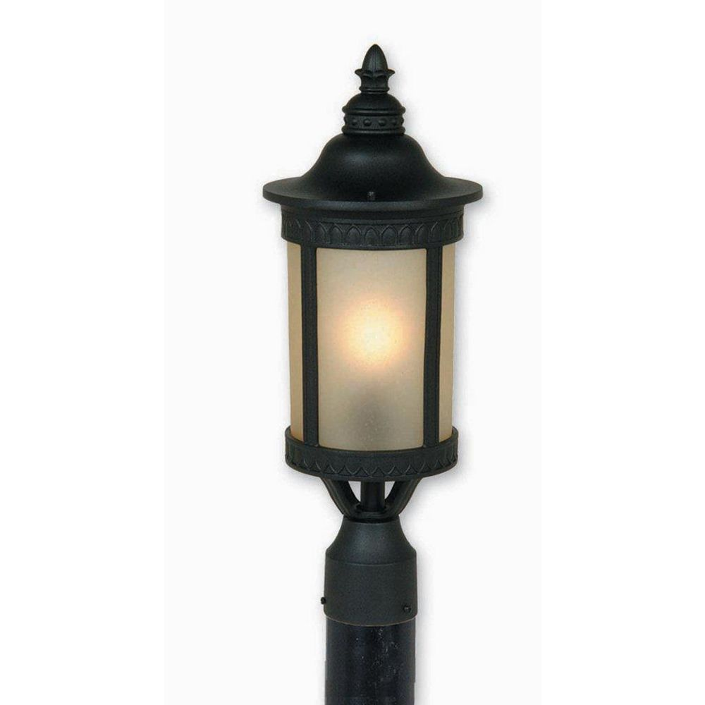 Filament Design Apollo 1 Light Black Outdoor Incandescent Post Light