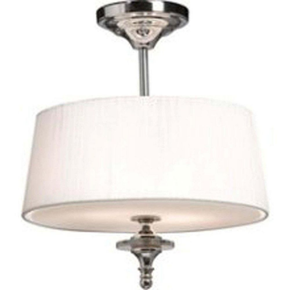 Filament Design 2 Light Ceiling Chrome Incandescent Semi Flush Mount