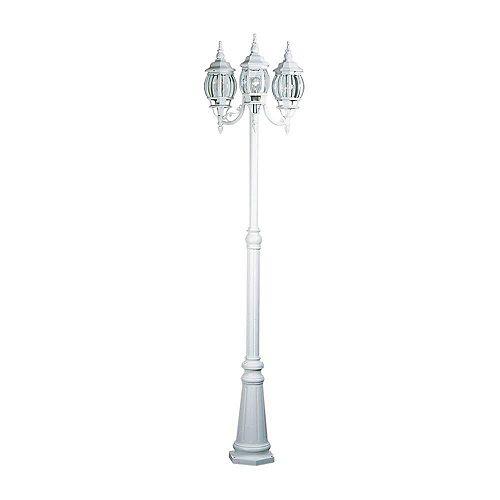 pilier monture lumière avec abat-jour blanc couleur en Blanc