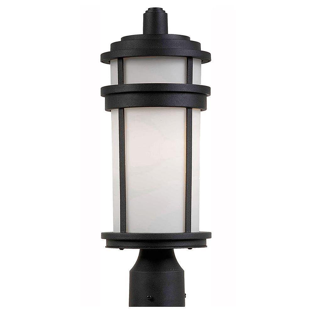 Filament Design Apollo 1 Light Black Outdoor Incandescent Post Light