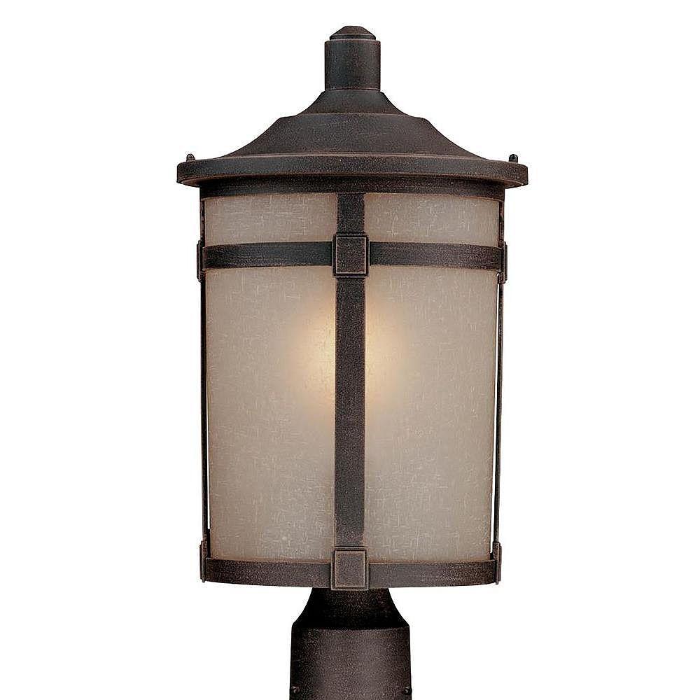 Filament Design Apollo 1 Light Bronze Outdoor Incandescent Post Light