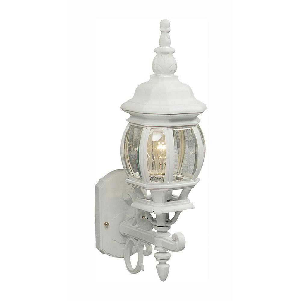 Filament Design Apollo 1 Light White Outdoor Incandescent Wall Light