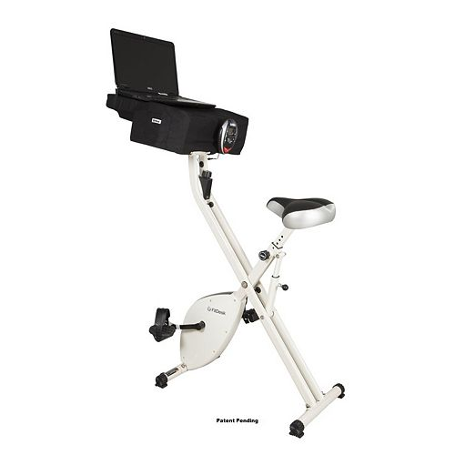 X-1 Ultra Compact Upright Exercise Bike Plus Desk
