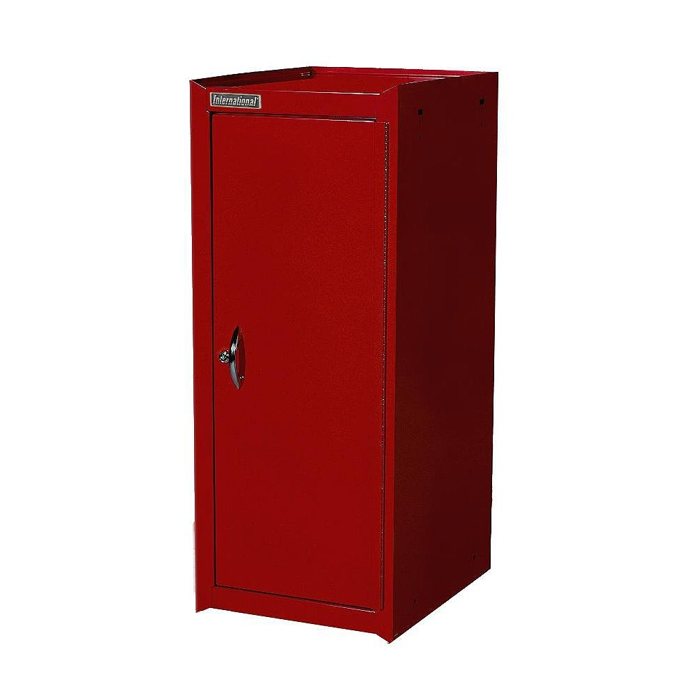 International 15-inch x 37-inch x 18.75-inch Tool Storage Side Cabinet with Adjustable Shelf in Red