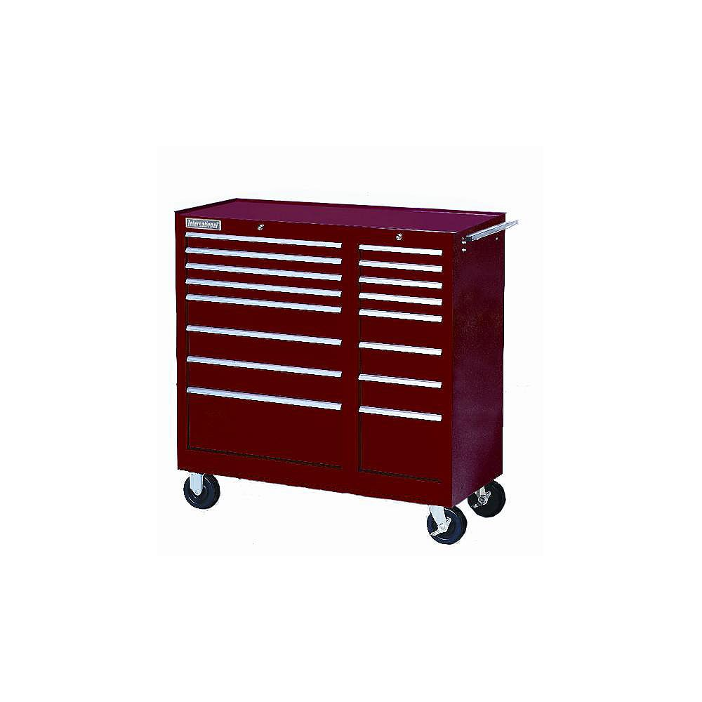 International 42-inch 16-Drawer Tool Storage Cabinet in Red