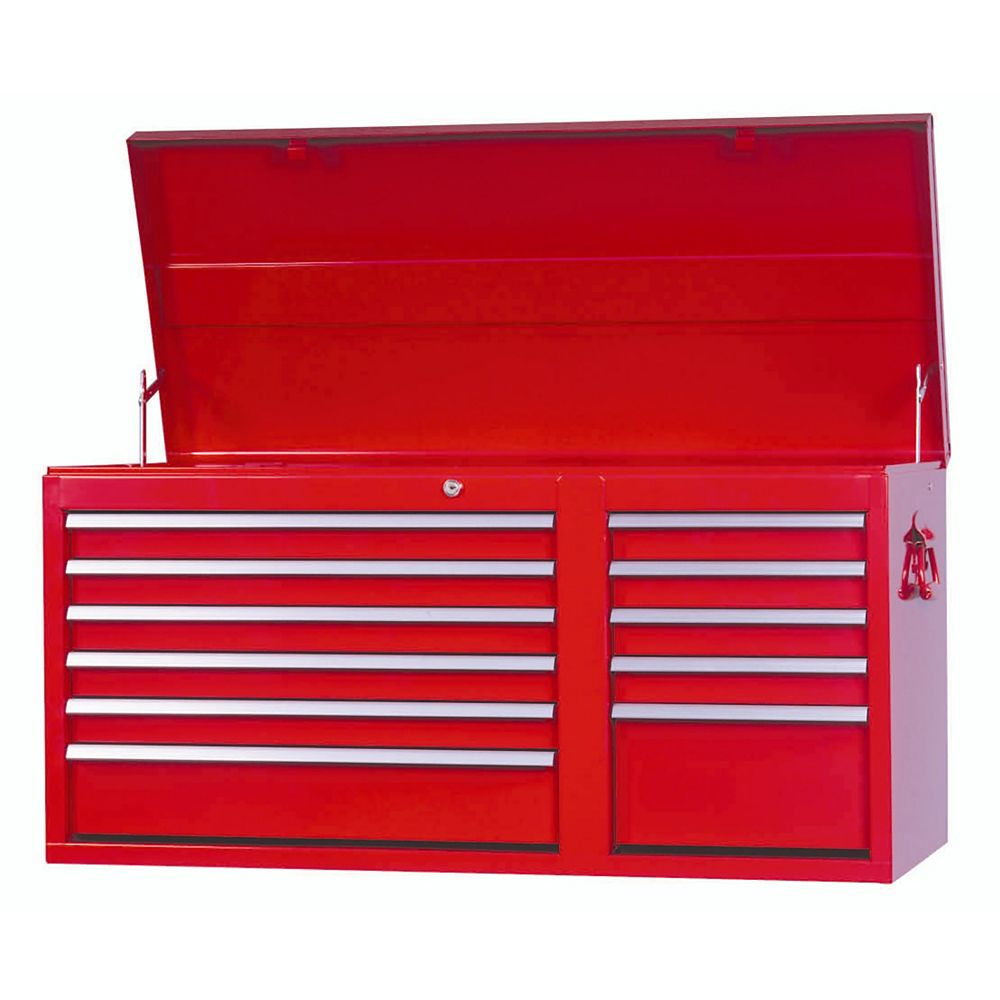 International 42-inch 11-Drawer Tool Storage Top Chest in Red
