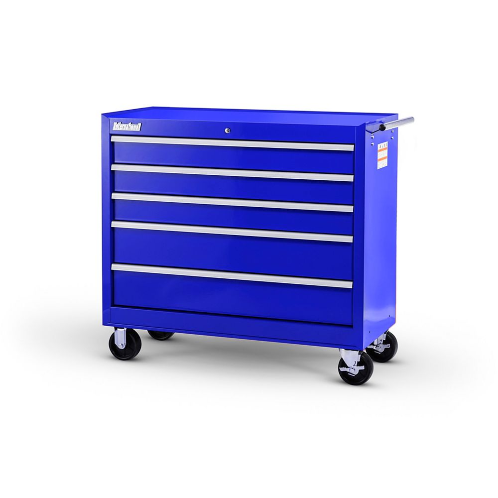 International 42-inch 5-Drawer Roller Cabinet in Blue