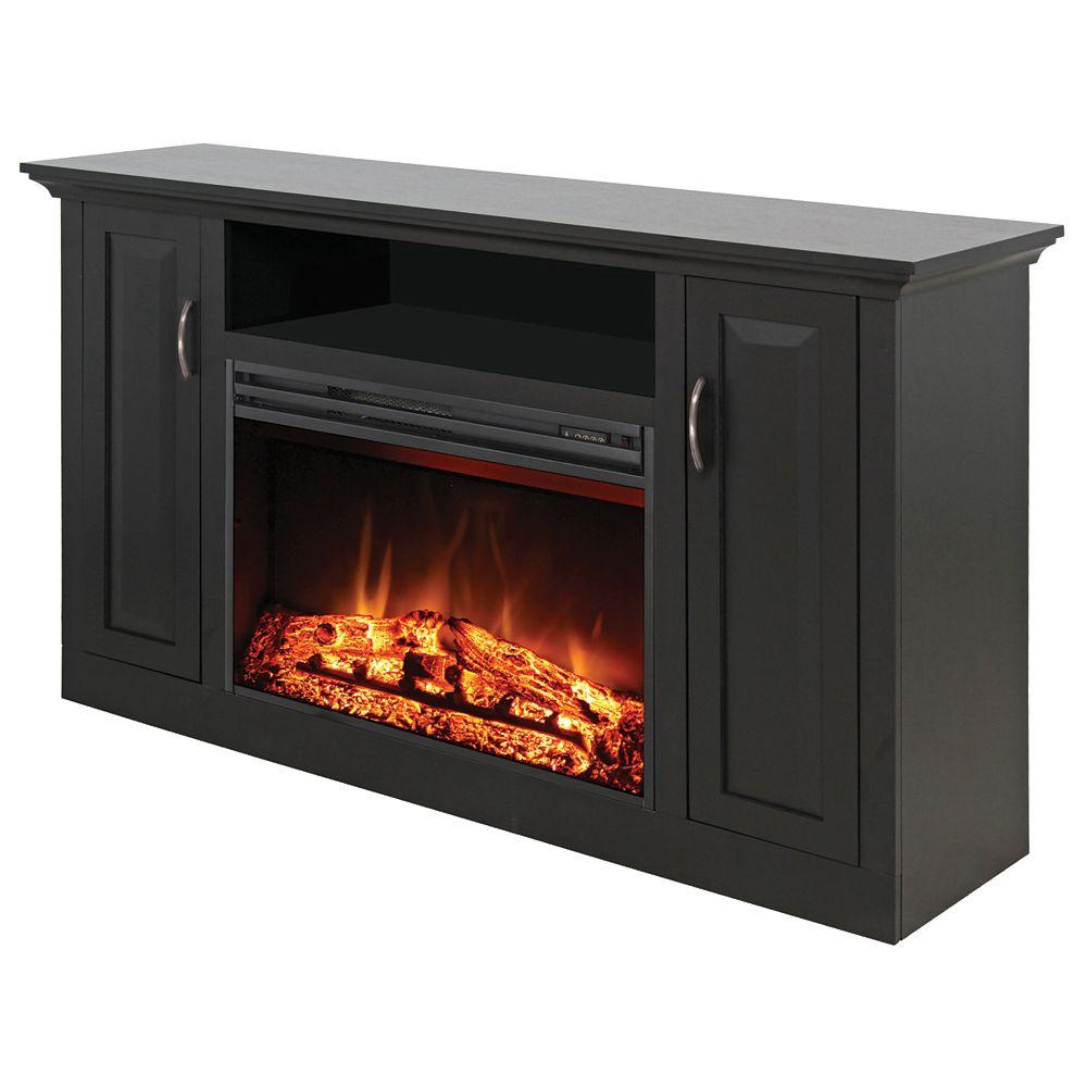 Muskoka Media Mantel With 25 Inch Electric Fireplace, Espresso