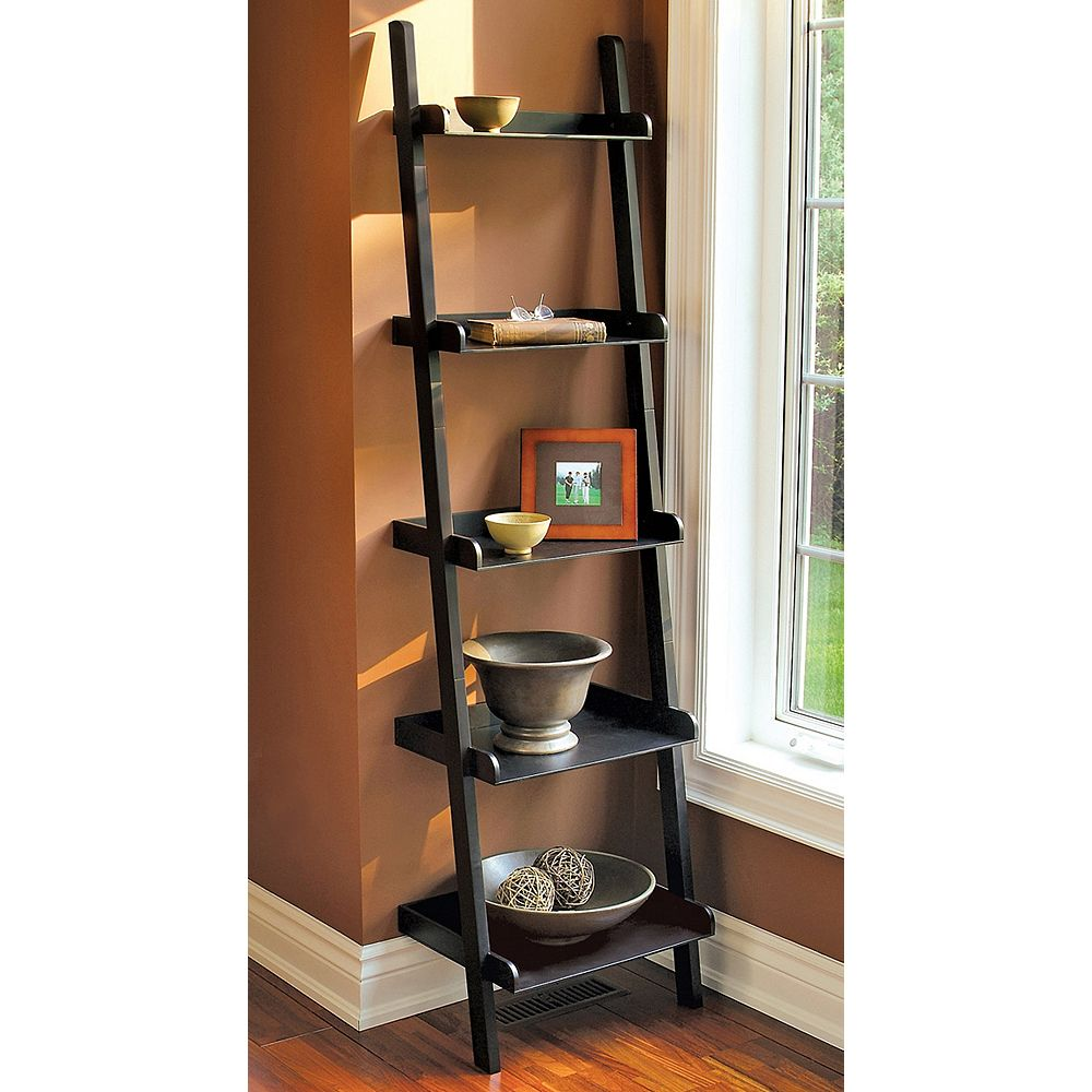 nexxt Hadfield - 67 X 18 X 13.5, 5 Tier Shelf - Black