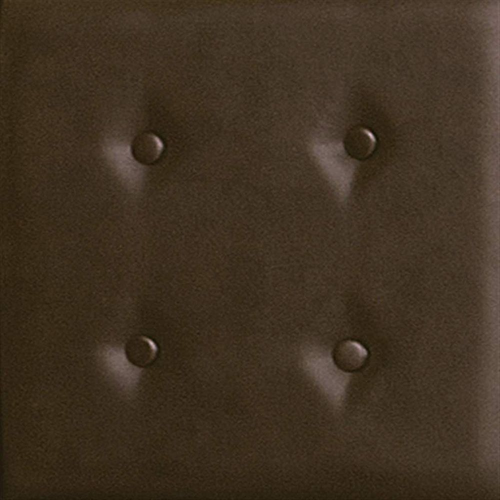 nexxt Luxe Set of 8 Upholstered Wall Panels 18 Inch X 18 Inch Faux Leather Dark Brown