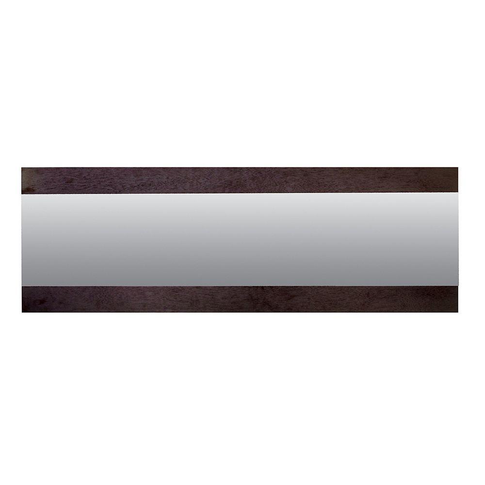 nexxt Horizon - Horizontal Mirror, 47.5X16X1 Inch - Wenge