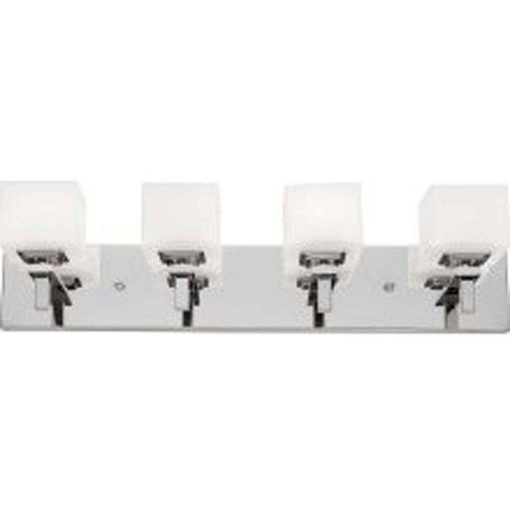 Filament Design 4 Light Wall Chrome Halogen Bathroom Vanity