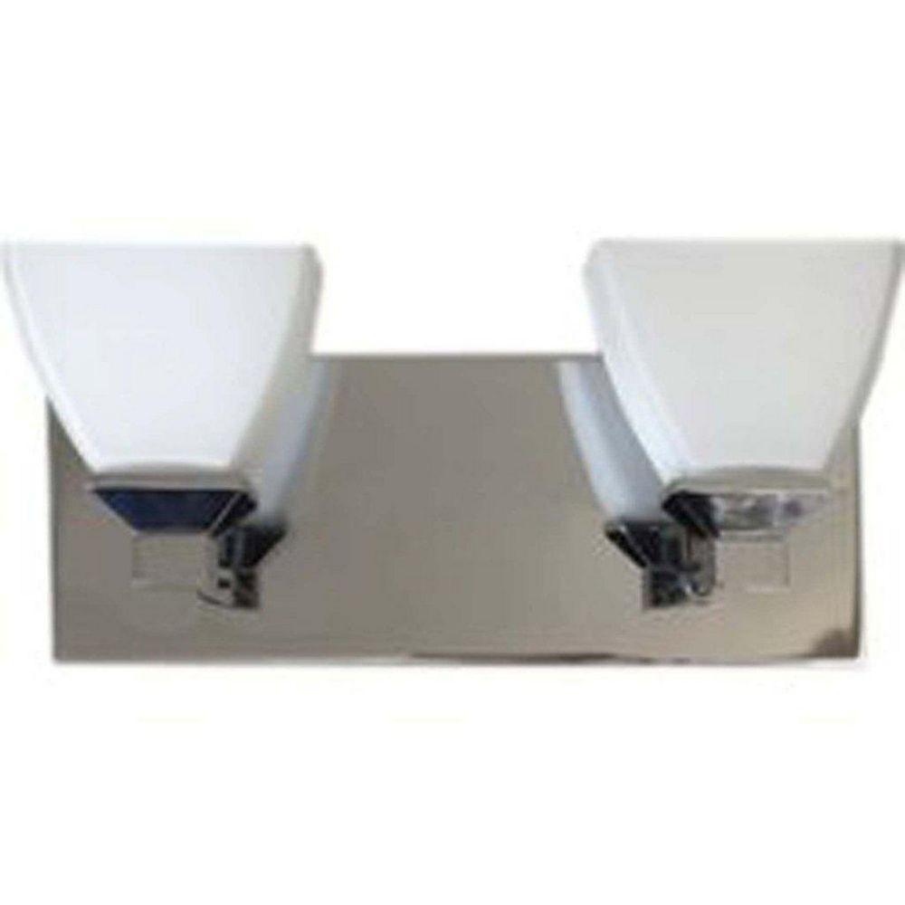 Filament Design 2 Light Wall Chrome Halogen Bathroom Vanity
