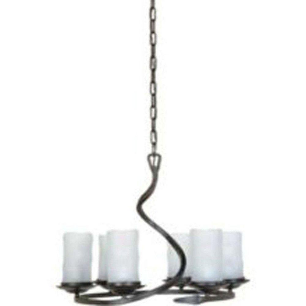 Filament Design 6 Light Ceiling Oiled Bronze Incandescent Chandelier