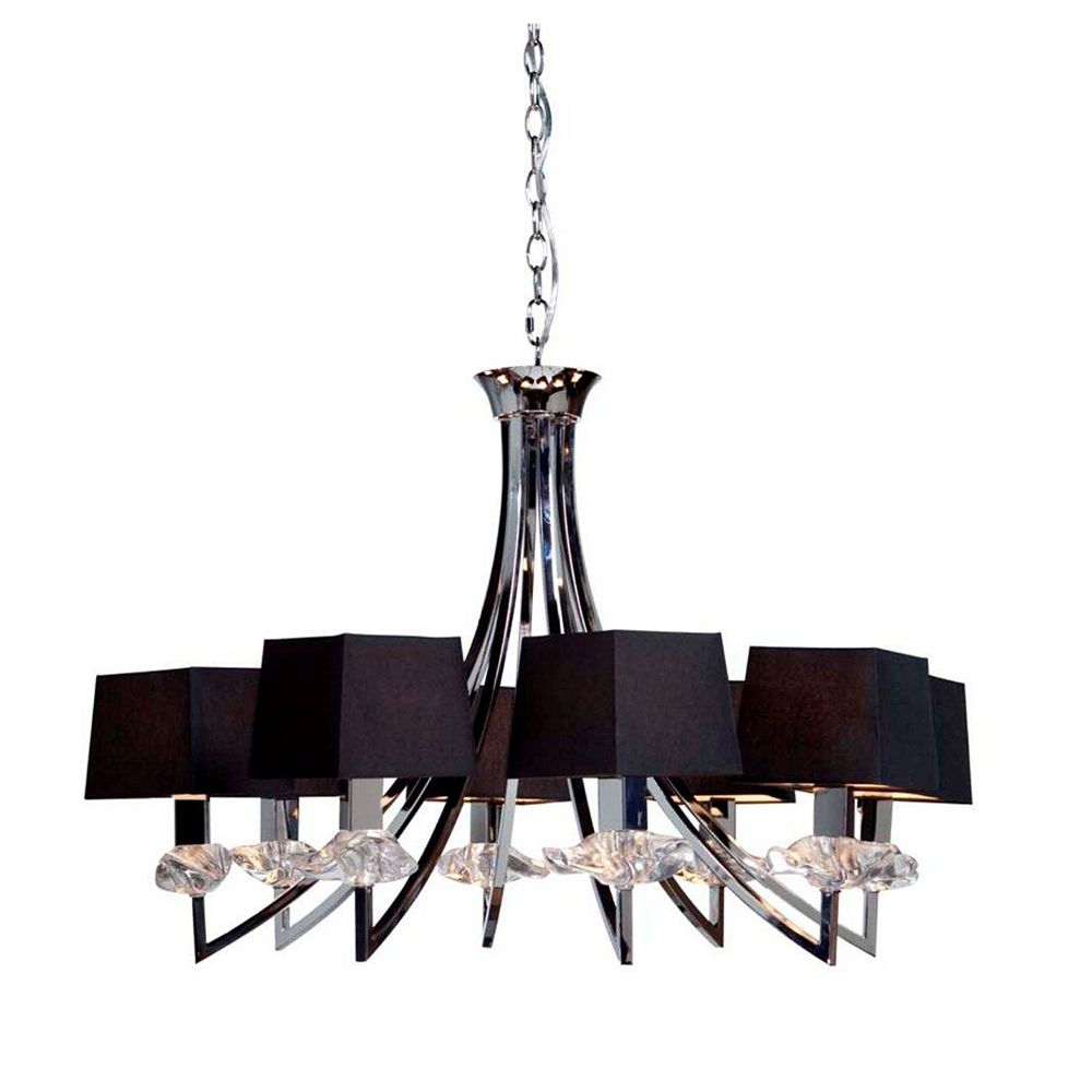 Filament Design 8 Light Ceiling Chrome Incandescent Chandelier
