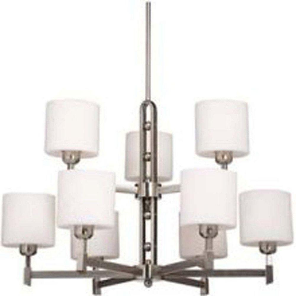 Filament Design 9 Light Ceiling Brushed Nickel Incandescent Chandelier
