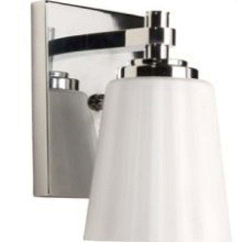 Filament Design 1 Light Wall Chrome Incandescent Bathroom Vanity