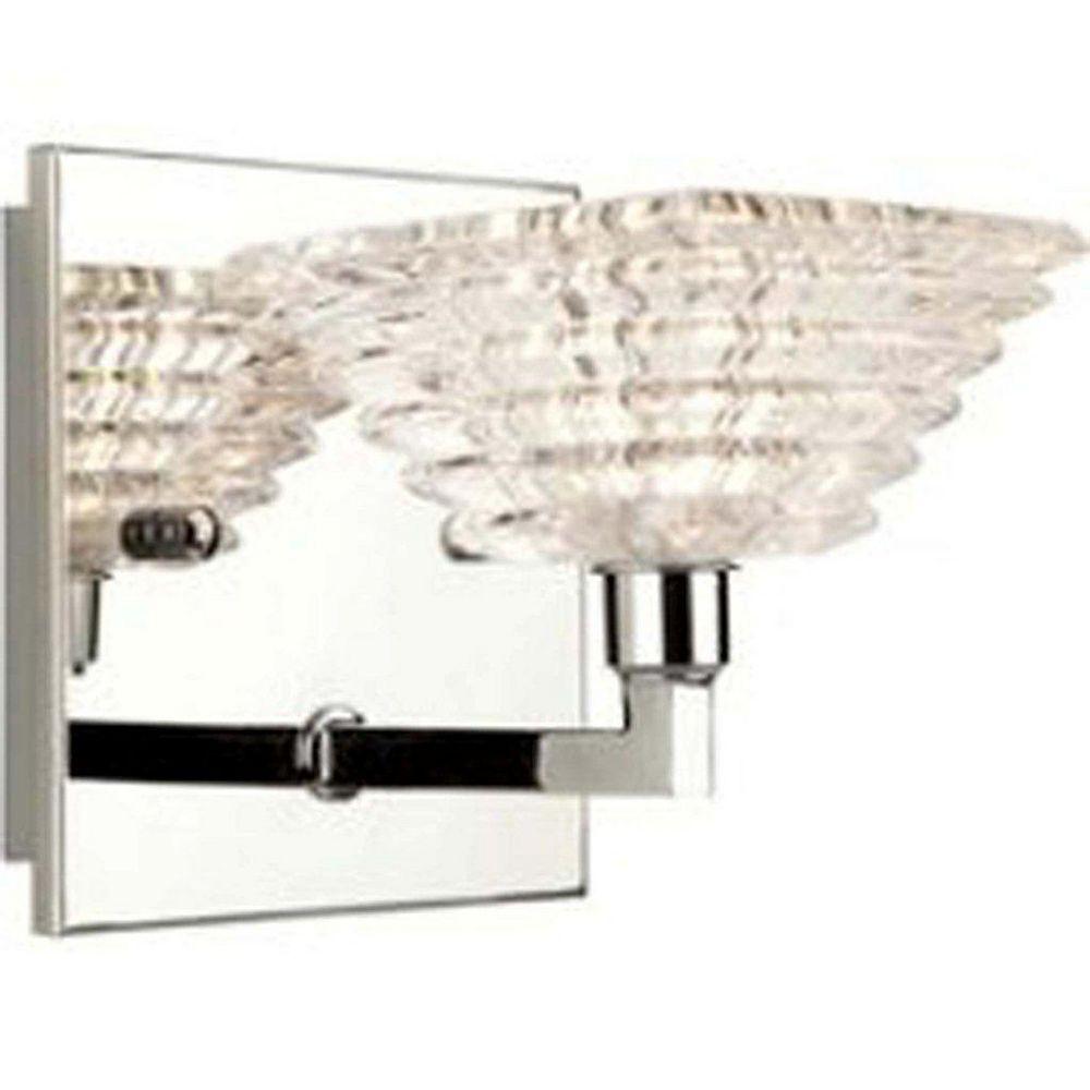 Filament Design 1 Light Wall Chrome Halogen Bathroom Vanity