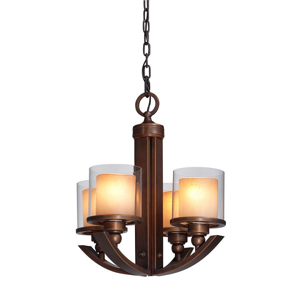 Filament Design 4 Light Ceiling Oiled Bronze Incandescent Chandelier
