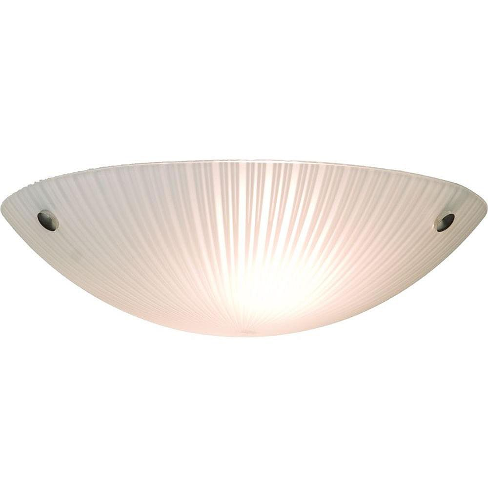 Filament Design 2 Light Ceiling Chrome Incandescent Flush Mount
