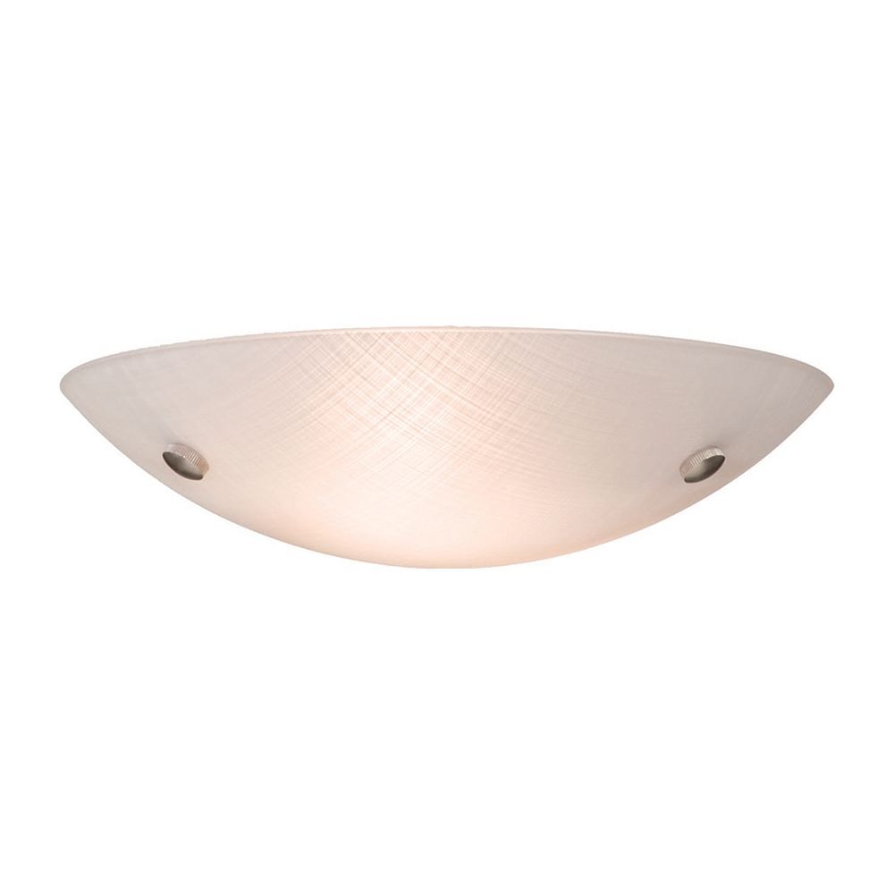 Filament Design 2 Light Ceiling Chrome Fluorescent Flush Mount