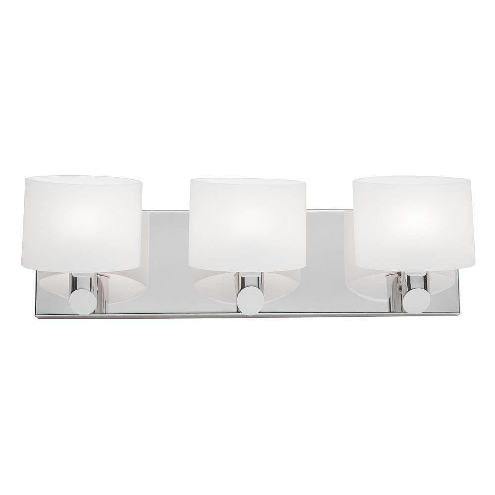 Filament Design 3 Light Wall Chrome Halogen Bathroom Vanity