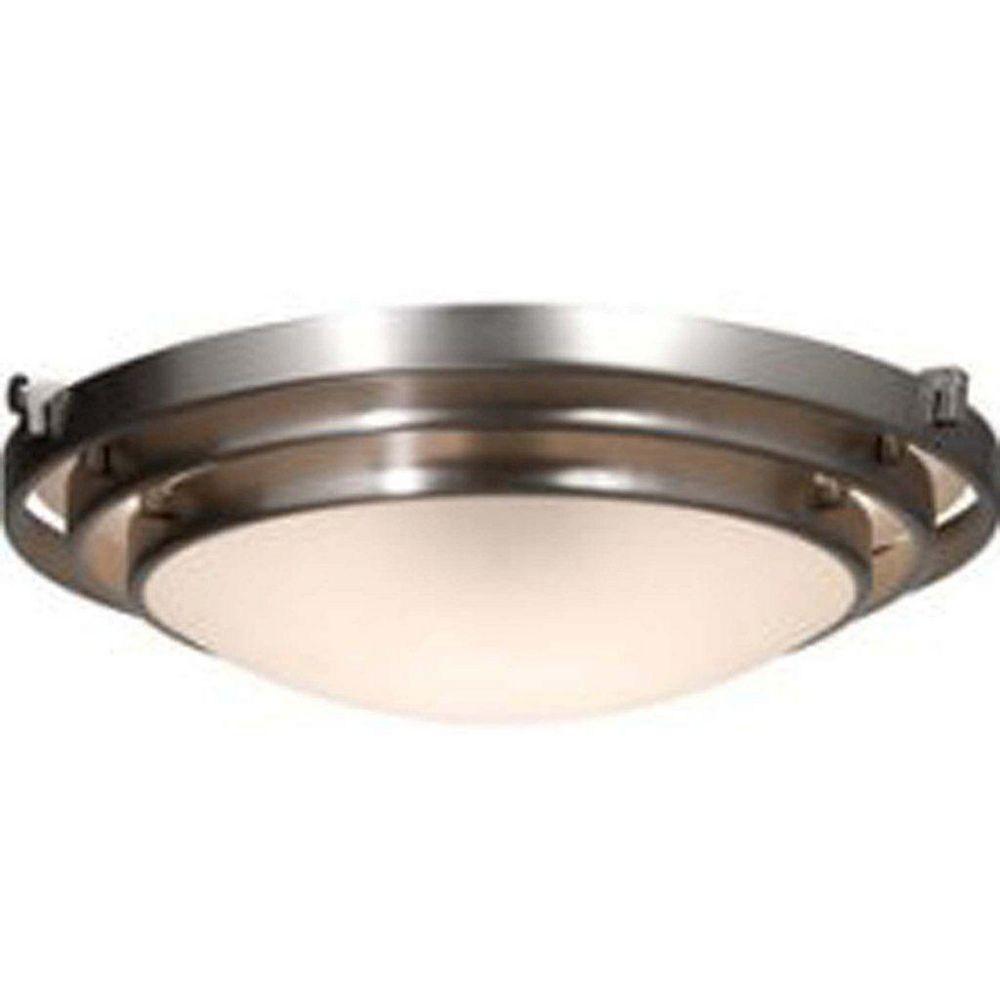 Filament Design 2 Light Ceiling Brushed Nickel Incandescent Flush Mount