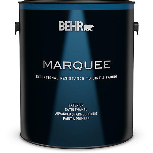 Peinture et apprêt en un BEHR MarqueeMC -dextérieur avec fini émail satiné blanc ultra pur (3,7L)