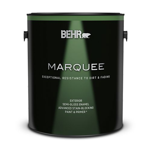 Behr Marquee Marquee 3.7 L Medium Base Semi-Gloss Enamel Exterior Paint with Primer