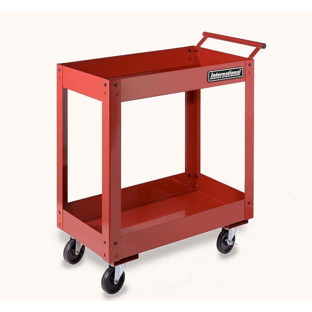 International 27-inch 2-Tray Utility Cart
