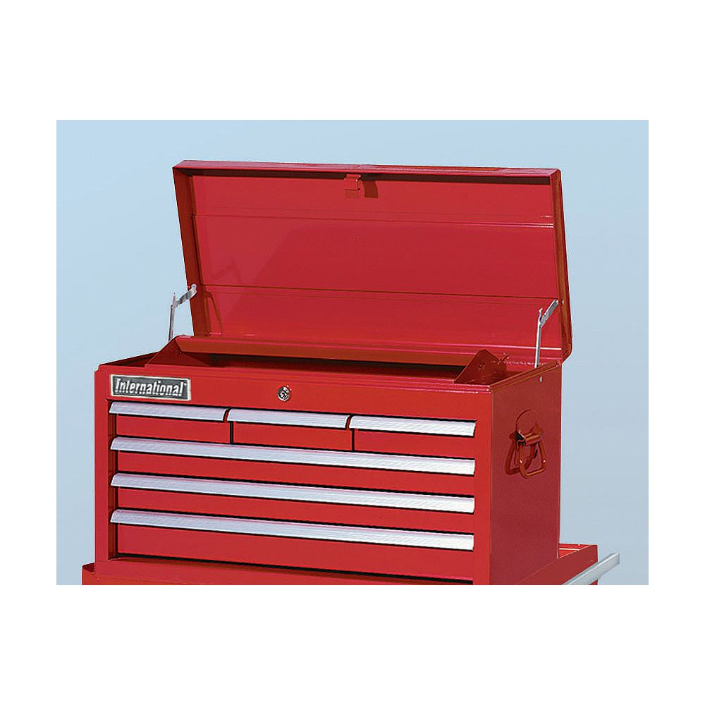 International 26-inch 6-Drawer Tools Storage Top Chest in Red