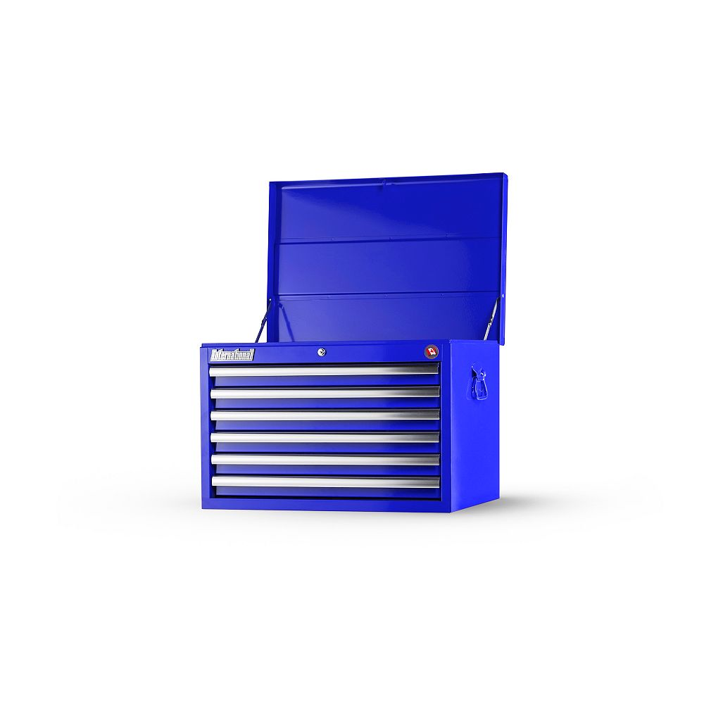 International 27-inch 6-Drawer Deep Top Chest in Blue
