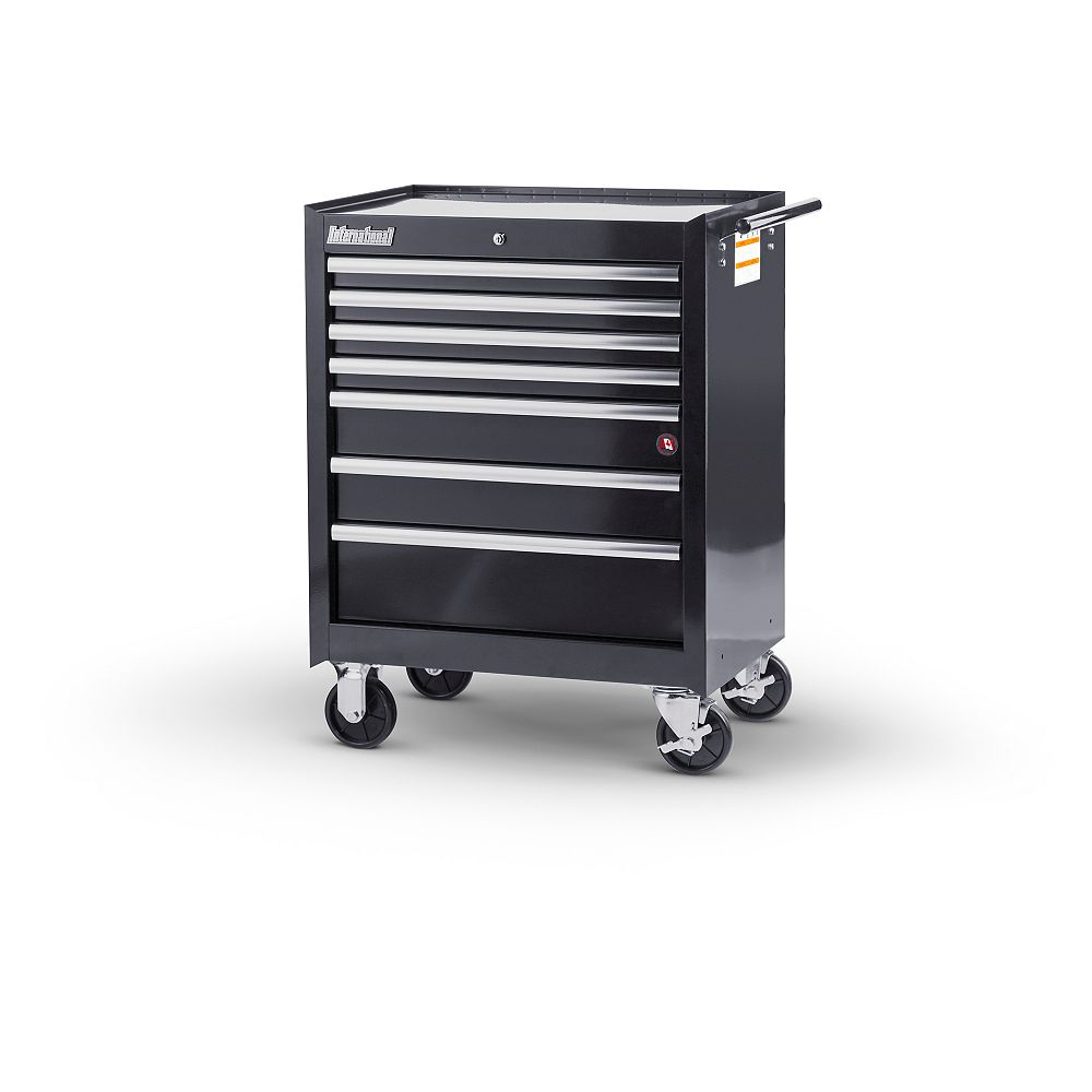 International 27-inch 7-Drawer Roller Cabinet in Black
