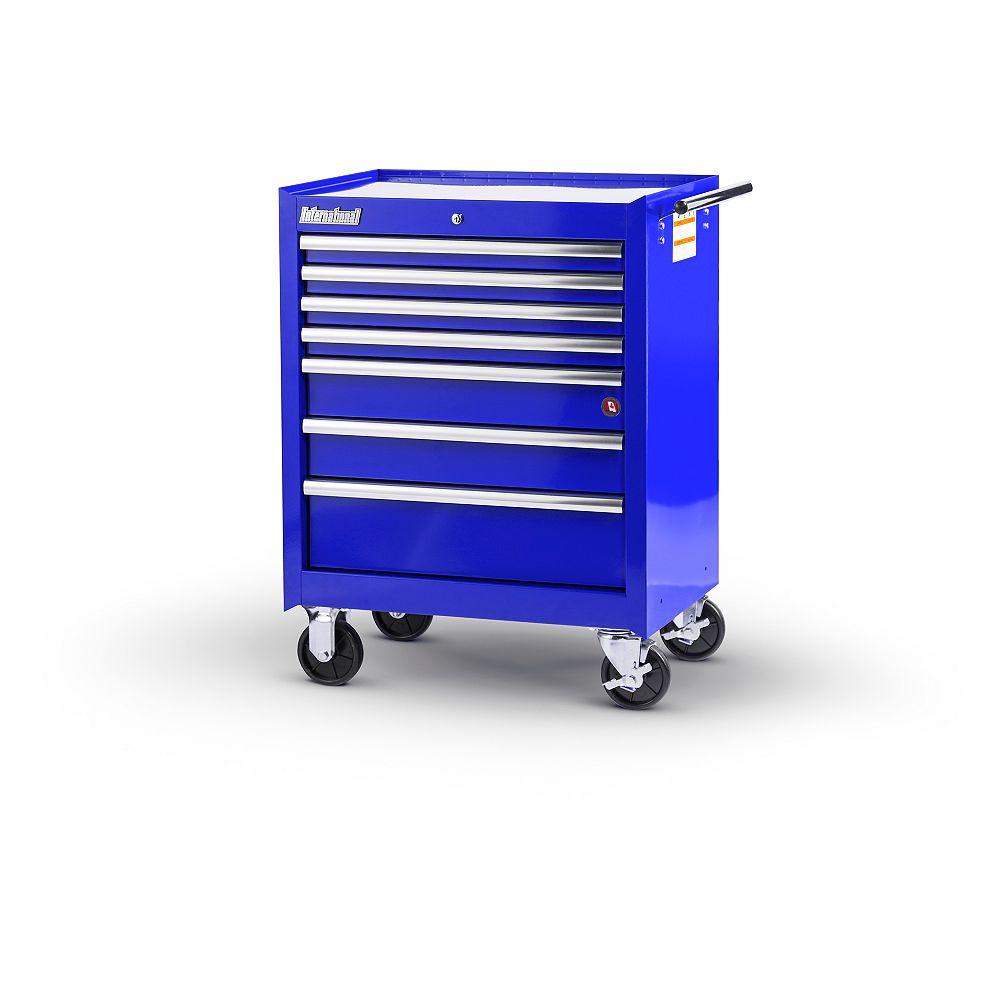 International 27-inch 7-Drawer Roller Cabinet in Blue