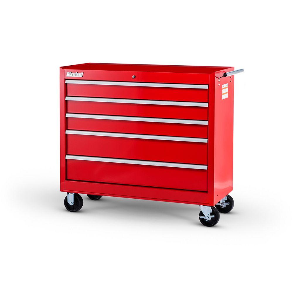 International 42-inch 5-Drawer Roller Cabinet in Red