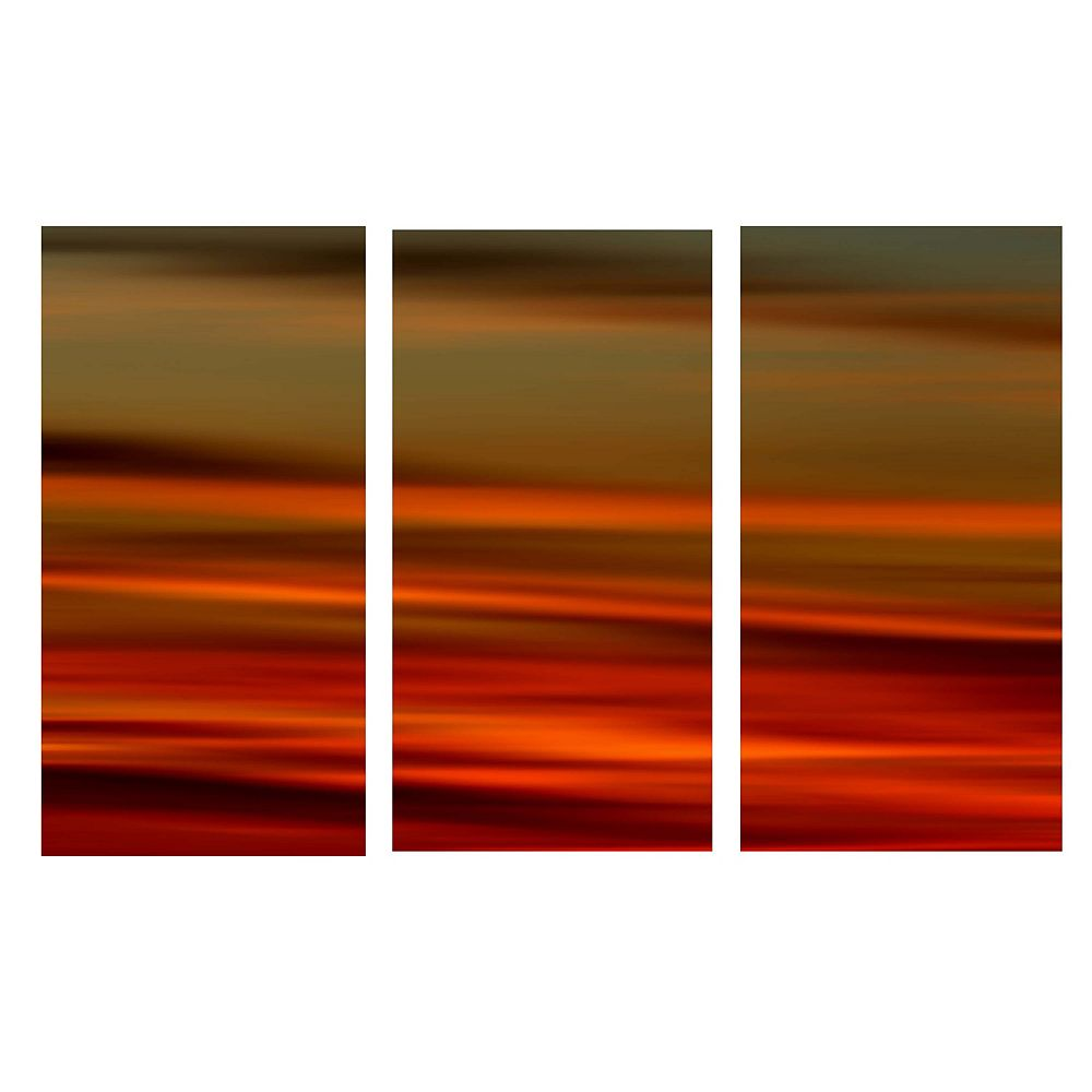 nexxt Myah Triptych Stretched Canvas Panels, 15X31.5X1.25 Each-Fire